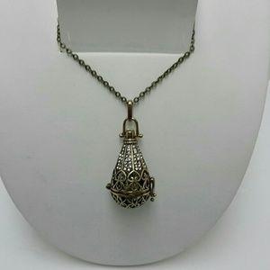 Jewelry - BRONZE TEARDROP EMBELLISHED URN LOCKET NECKLACE